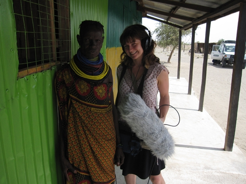 Recording near Lake Turkana