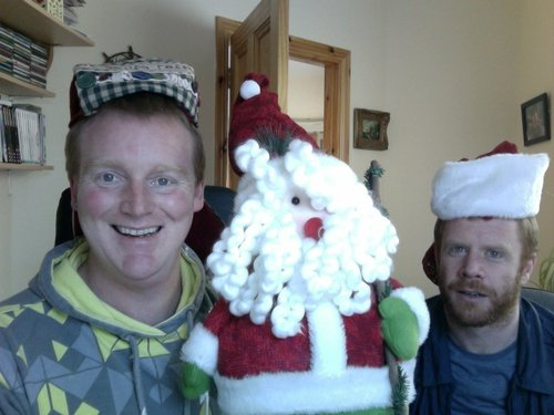The two ginger Elves from the Documentary on One Unit who produced 'The Reindeer Santa Left Behind'