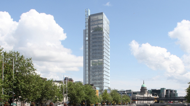 The proposed tower would have been 35% higher than Liberty Hall