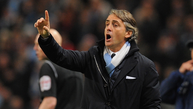 Manchester City manager Roberto Mancini believes his players were again on the wrong side of some major refereeing decisions