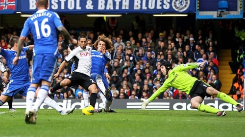 Clint Dempsey equalises for Fulham at Stamford Bridge
