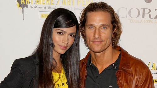 McConaughey and Alves, newly married couple
