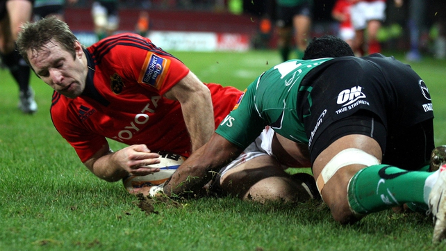 Tomás O'Leary touches down for Munster