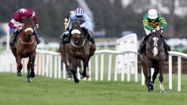 Lexus Chase - Synchronised swept clear to surprise the favourites at Leopardstown