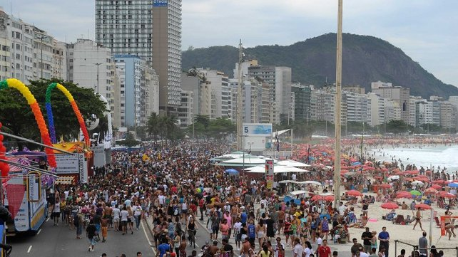 24 tonnes of fireworks will be detonated for 16 minutes at Copacabana beach