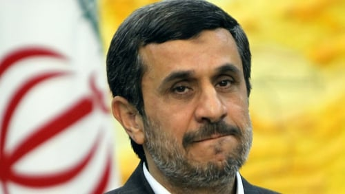 Mahmoud Ahmadinejad addressed crowds at Tehran's Azadi Square