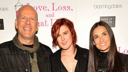 Rumer Willis with dad, Bruce, and mother, Demi Moore