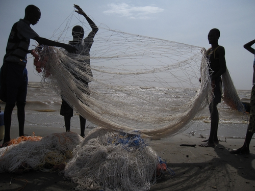 Fishermen at Lake Turkana.