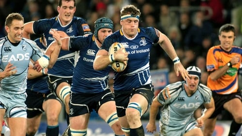 This run from Jamie Heaslip set up Sean O'Brien for Leinster's first try