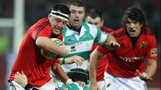 Munster's James Coughlan (left) will lead the Ireland Wolfounds against England Saxons