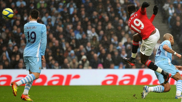 Danny Welbeck scored a spectacular goal to give the Red Devils a 2-0 advantage at the Etihad Stadium