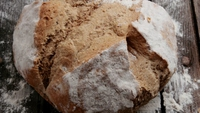 Vegan Brown Soda Bread - Traditional soda bread with healthy addition of omega 3 rich linseed.