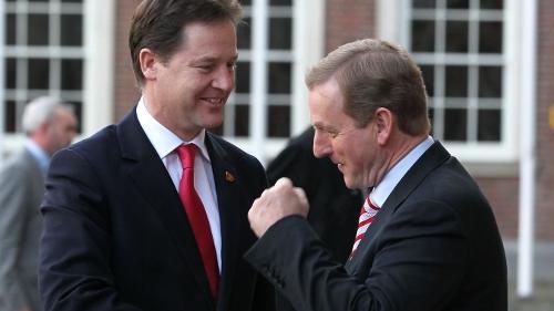 British Deputy Prime Minister Nick Clegg in Dublin