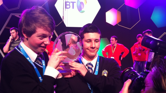Mark James Kelly and Eric Doyle won the Irish Young Scientist Awards in Dublin earlier this year
