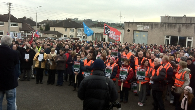 Former workers at the Cork plant have been protesting for 30 days