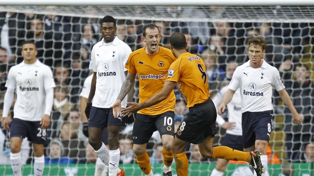 Steven Fletcher gave Wolves a first-half lead