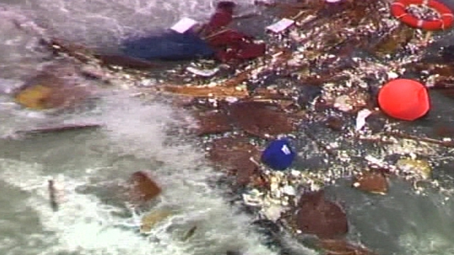 Debris from the trawler (Pic: Irish coastguard)