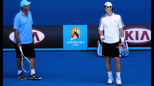 Coach Ivan Lendl (l) and Andy Murray going their separate ways