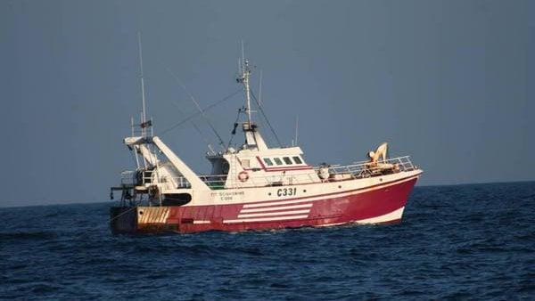 The Tit Bonhomme sank early on Sunday morning (Pic www.trawlerphotos.co.uk)