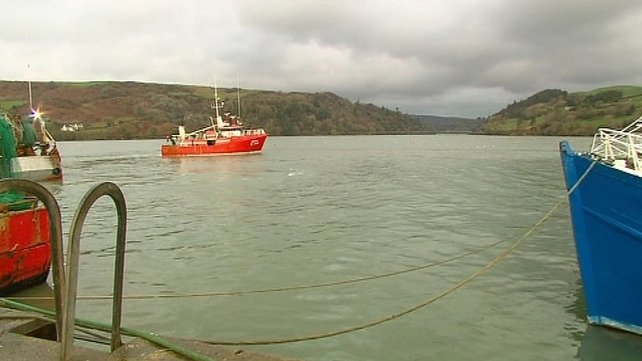 Several trawlers are involved in the operation in Glandore