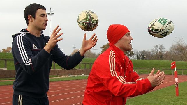 Felix Jones (left) has been added to Munster's Heineken Cup squad