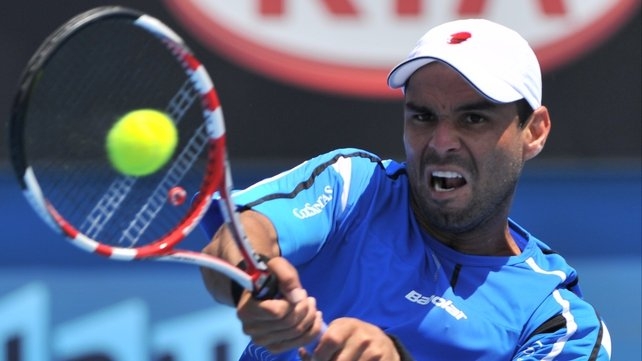 Alejandro Falla claimed the scalp of Mardy Fish in the second round of the Australian Open