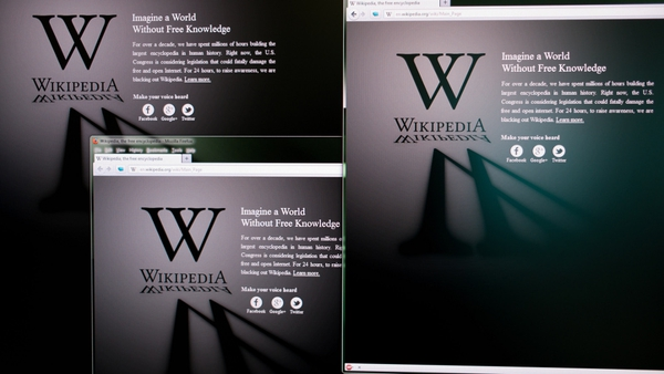 Wikipedia is blacking out its content to protest US legislation