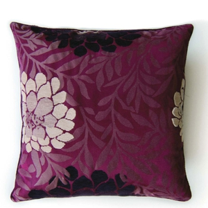 Chenille flower cushion, €12