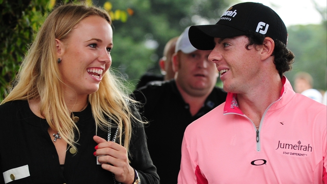 Caroline Wozniacki says she has learned from her boyfriend Rory McIlroy's approach to golf