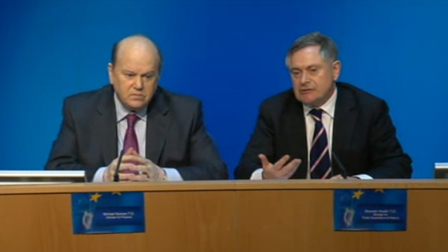Ireland continues to achieve targets set under bail-out deal, says Ministers Noonan and Howlin