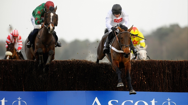Somersby (left) is ready to make a big impact at the Punchestown Champion Chase
