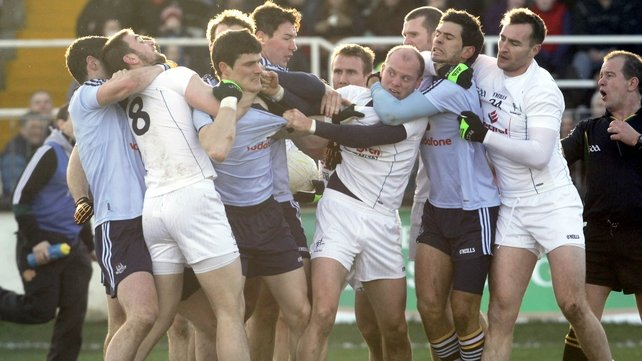 It's always a lively affair when Dublin and Kildare meet