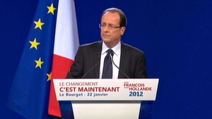 Francois Hollande looking very strong in the polls