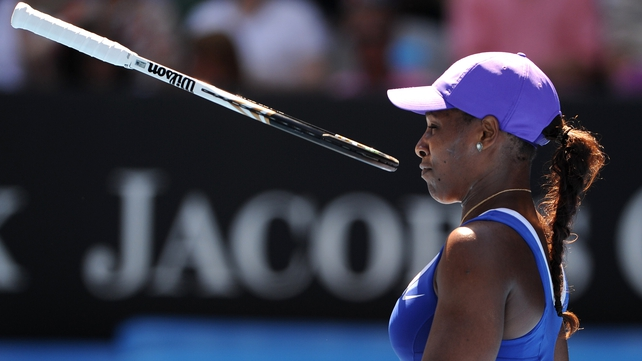 Serena Williams was comprehensively beaten in the fourth round