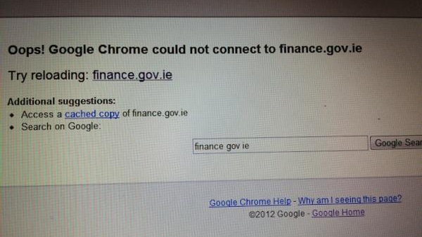 The websites of the Departments of Justice and Finance were both taken offline