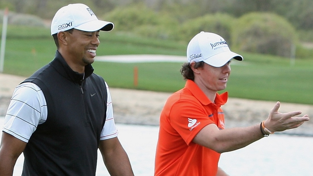 Rory McIlroy and Tiger Woods went head to head in China with the Holywood man edging the former world number one
