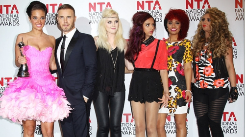 Tulisa, Gary and Little Mix accept the award for Best Talent Show