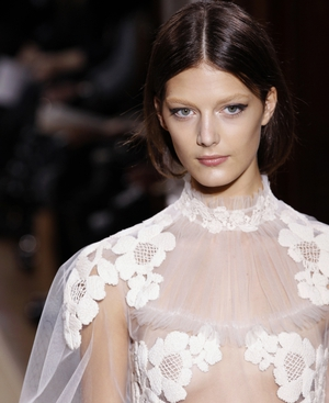 One of Valentino's designs from their catwalk show earlier this year