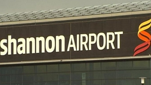 Gardaí and airport police officers were waiting for the flight when it landed at Shannon Airport this evening