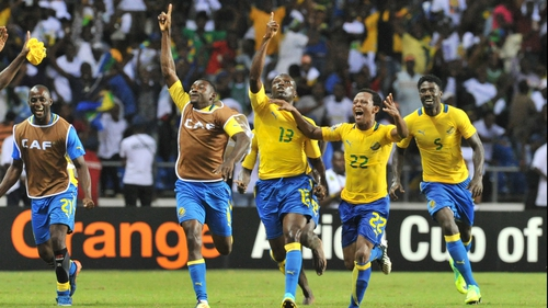 Gabon secured a quarter-final spot in the Africa Cup of Nations courtesy of a last-minute Bruno Zita Mbanangoye free-kick