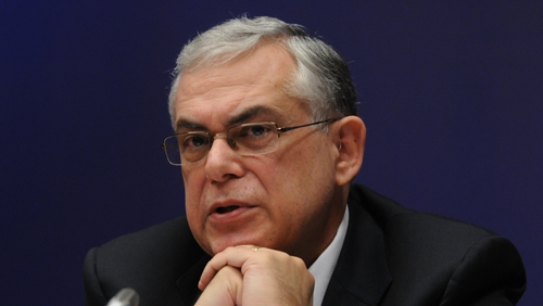 Greek Prime Minister Lucas Papademos gives up his salary