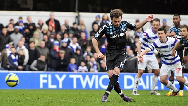 Juan Mata's penalty was enough to give Chelsea victory