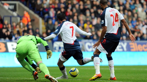 Chris Eagles scores the winner for Bolton