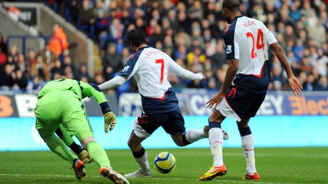 Chris Eagles scores the winner for Bolton