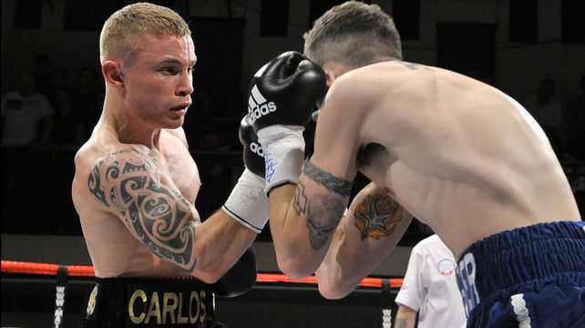 Carlos 'The Jackal' Frampton stopped Kris Hughes in the seventh round