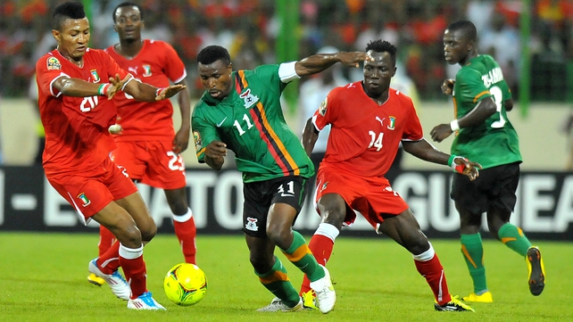 Christopher Katongo's goal was the difference between the sides as Zambia went through as Group A winners