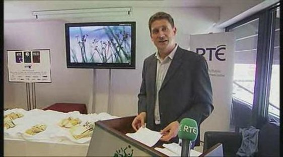 Minister for Communications Eamon Ryan launches the first terrestrial broadcast of an Irish sporting event in HDTV.