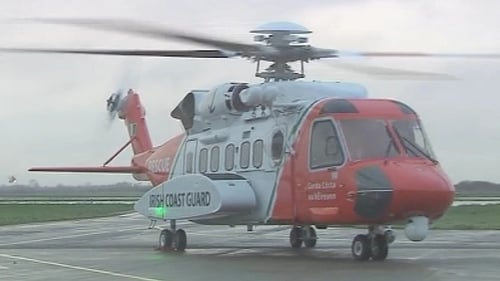 The Irish Coastguard helicopter was scrambled in the search off the north Antrim coast