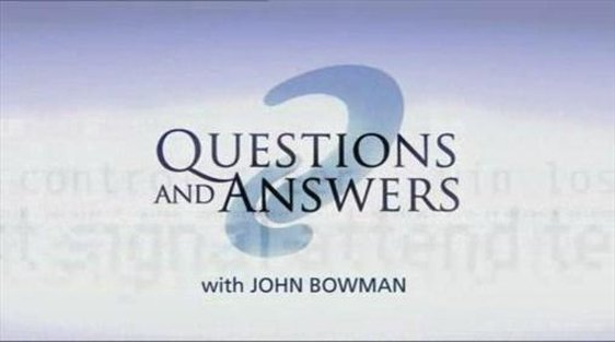 The opening title caption for 'Questions and Answers'.