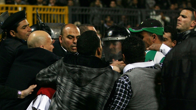 Egyptian police clash with fans